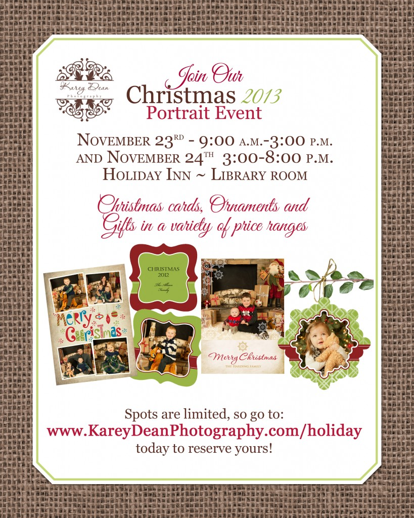 Christmas Portrait event Williamsport, PA